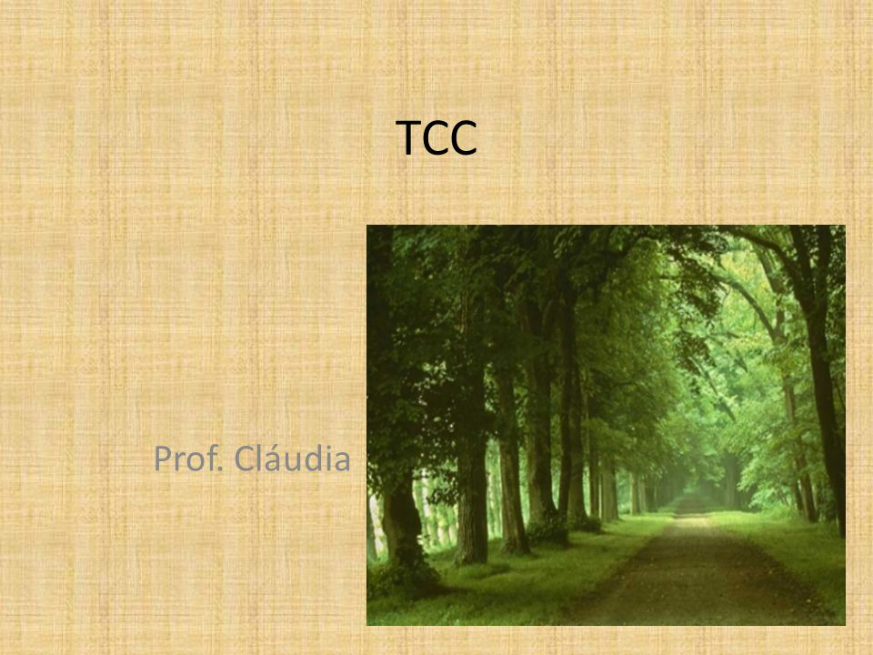 TCC Prof. Cláudia