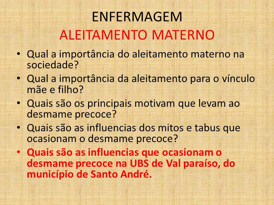 ENFERMAGEM ALEITAMENTO MATERNO