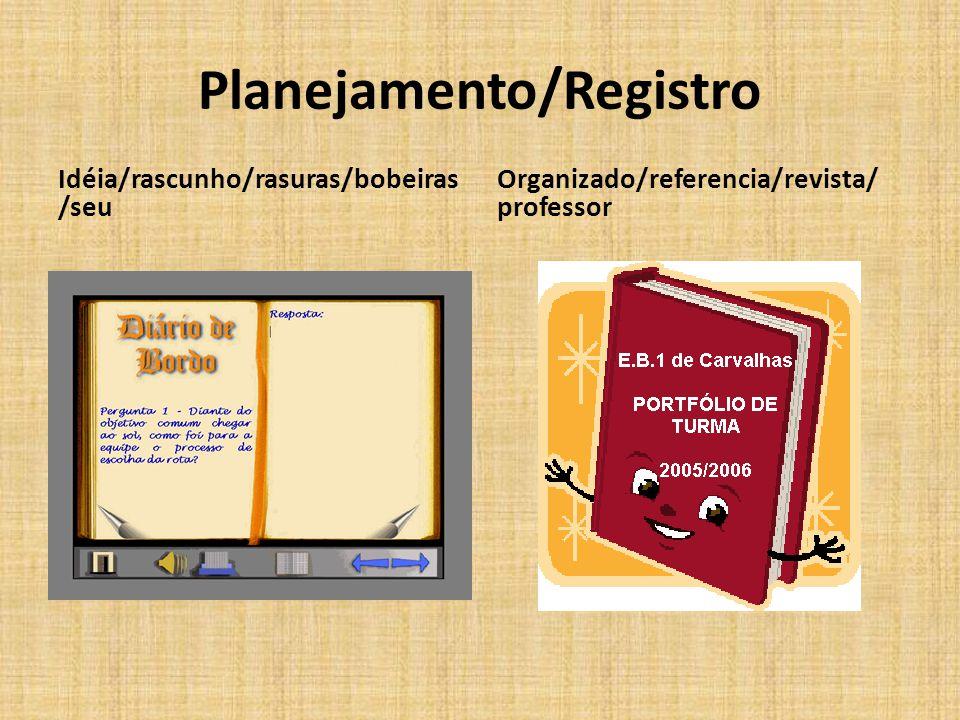 Planejamento/Registro