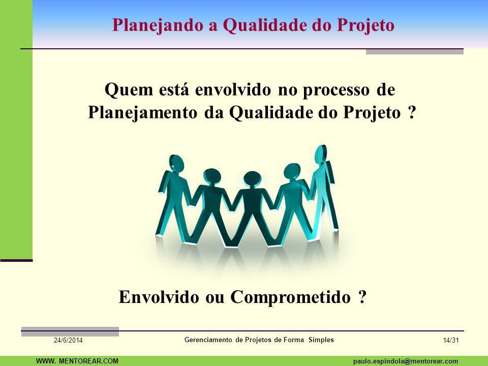 Planejando a Qualidade do Projeto