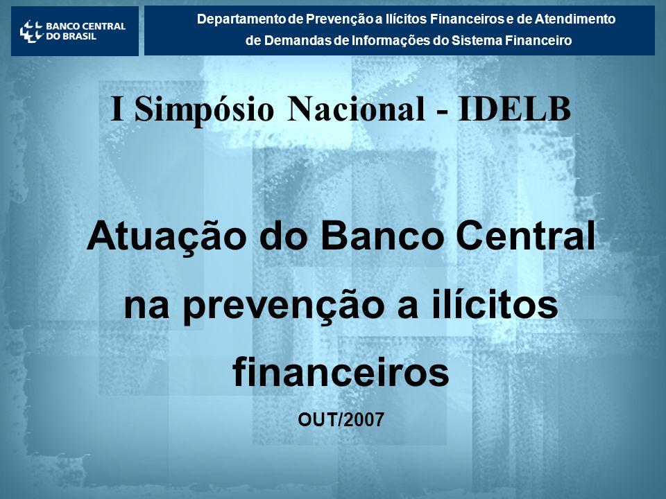 Atuação do Banco Central na prevenção a ilícitos financeiros