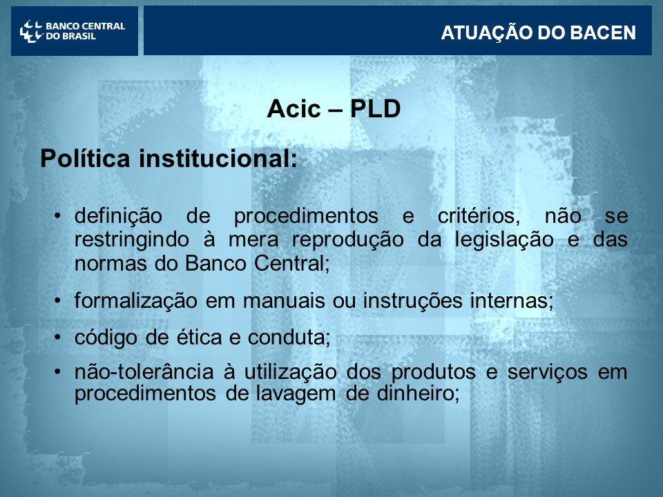 Política institucional: