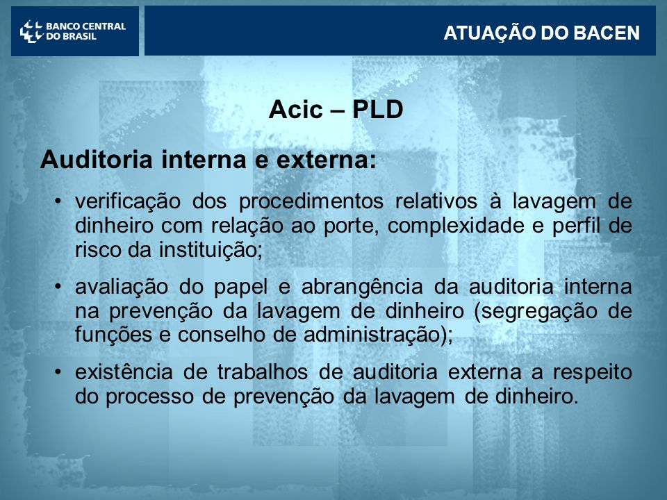 Auditoria interna e externa: