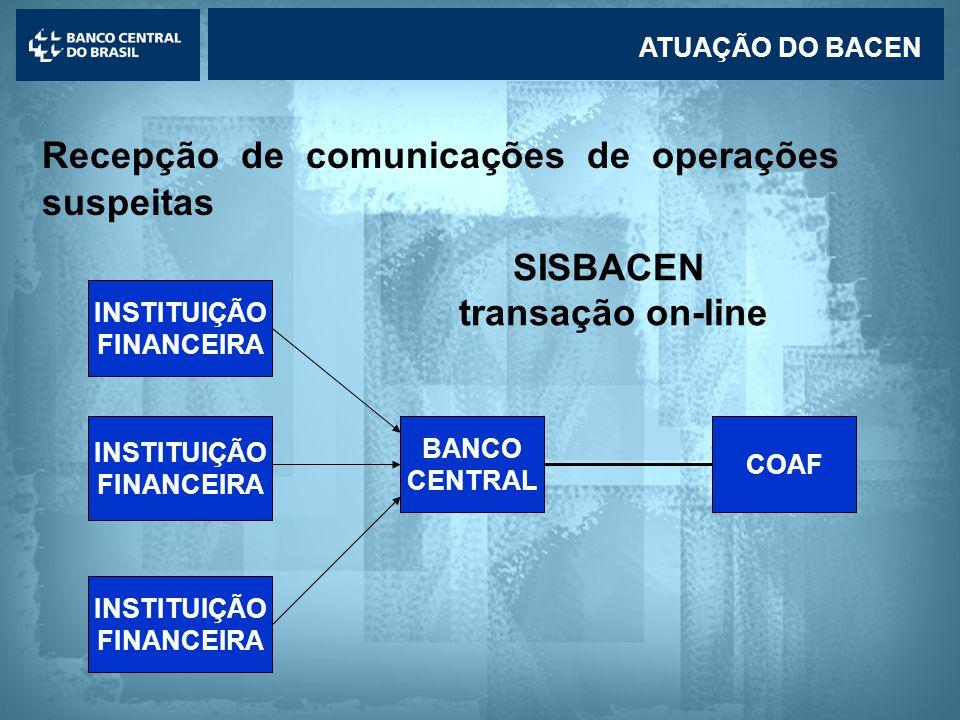 SISBACEN transação on-line