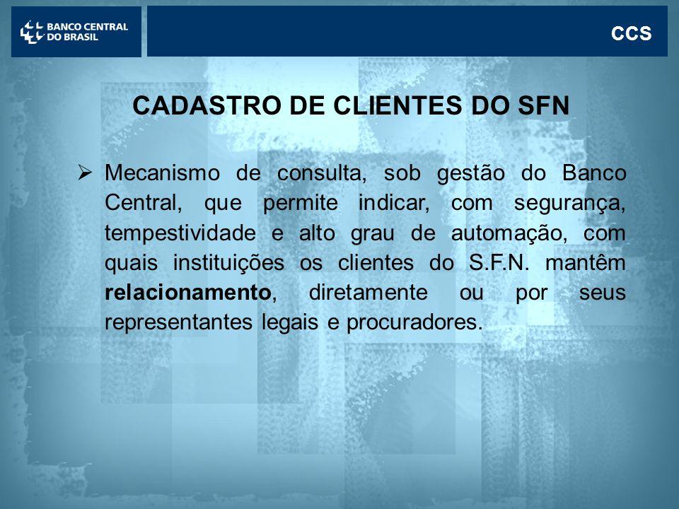 CADASTRO DE CLIENTES DO SFN