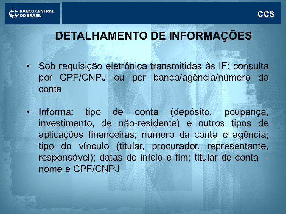 DETALHAMENTO DE INFORMAÇÕES