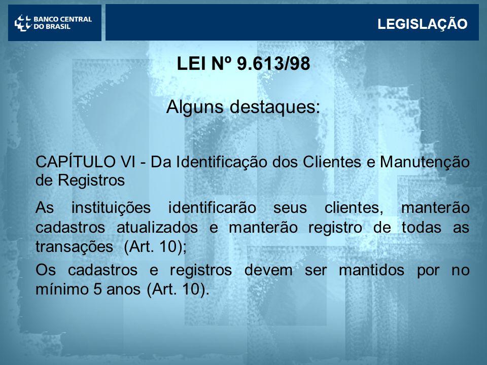 CAPÍTULO VI - Da Identificação dos Clientes e Manutenção de Registros