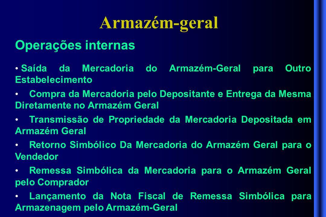 Armazém-geral Operações internas