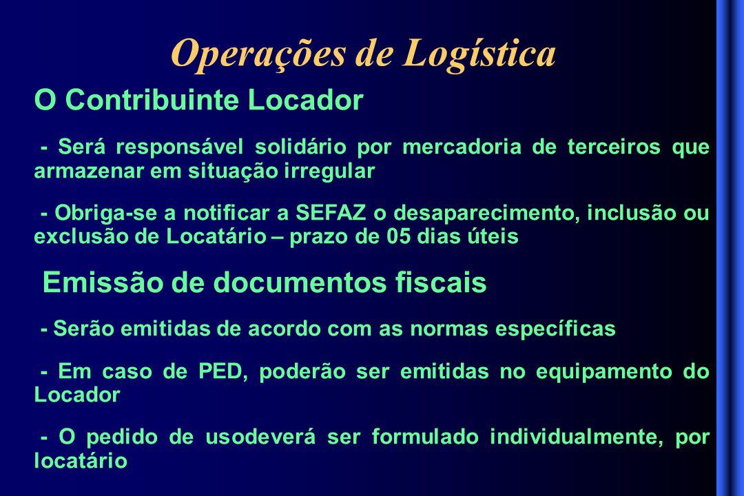 Operações de Logística