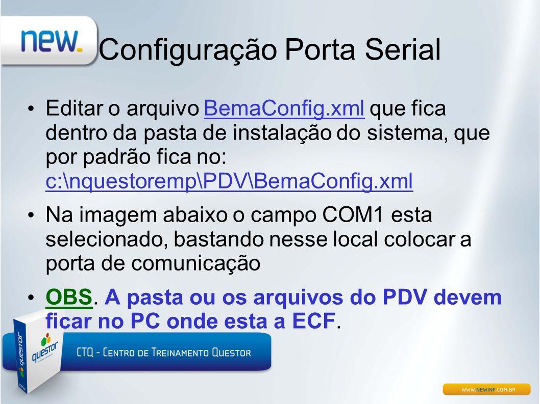 Configuração Porta Serial