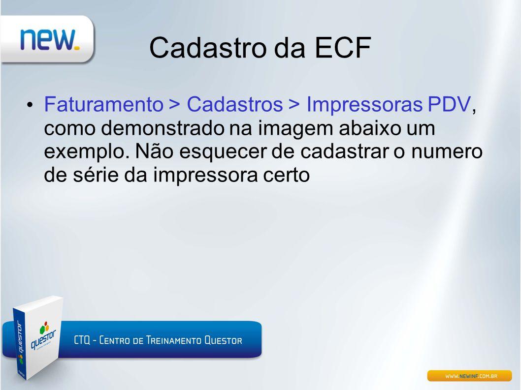Cadastro da ECF