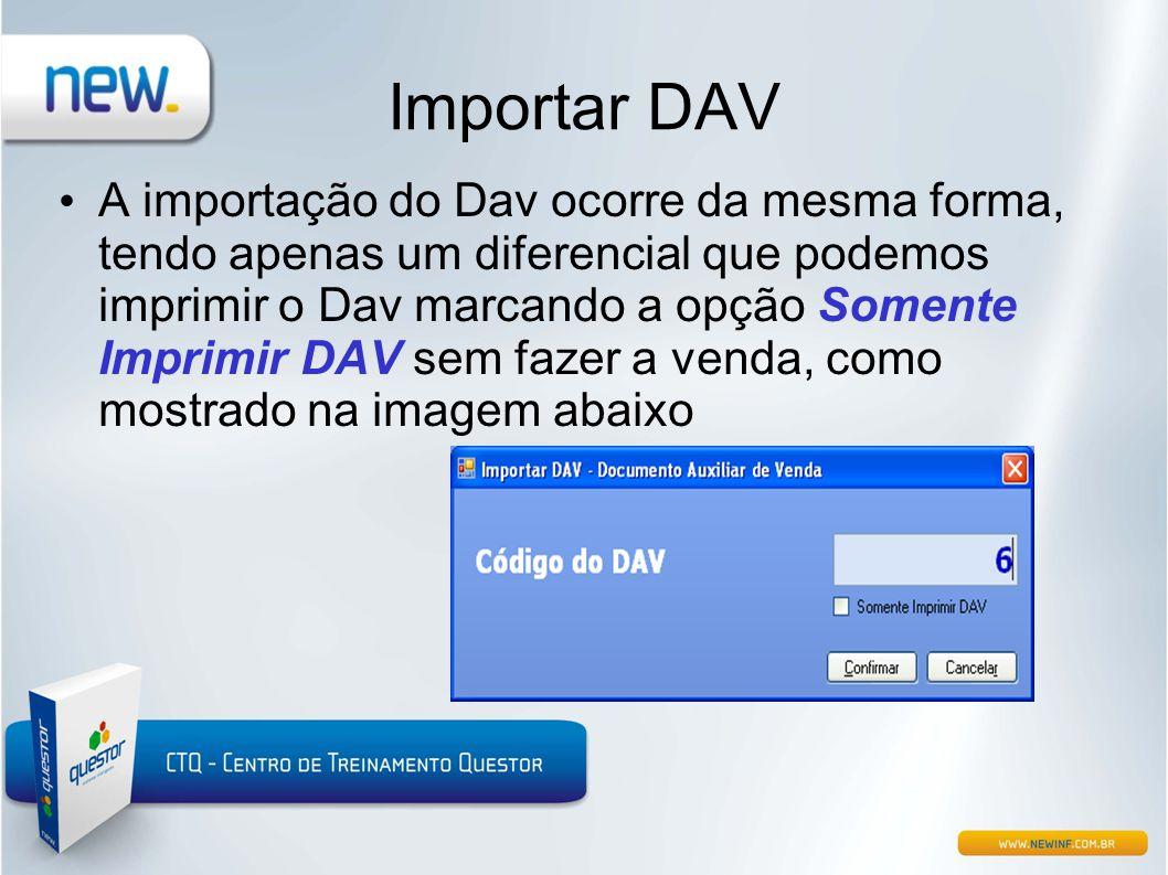 Importar DAV