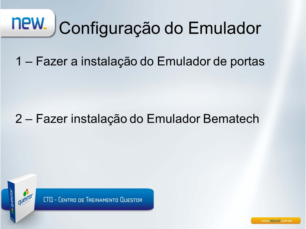 Configuração do Emulador