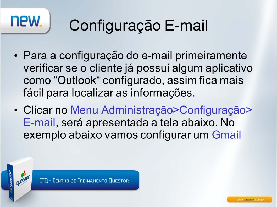 Configuração E-mail