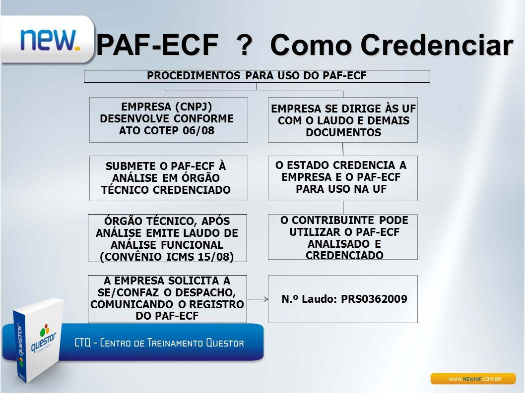 PAF-ECF Como Credenciar