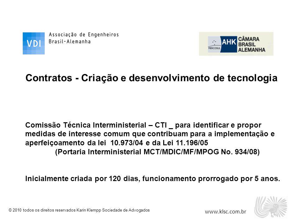 Contratos - Criação e desenvolvimento de tecnologia
