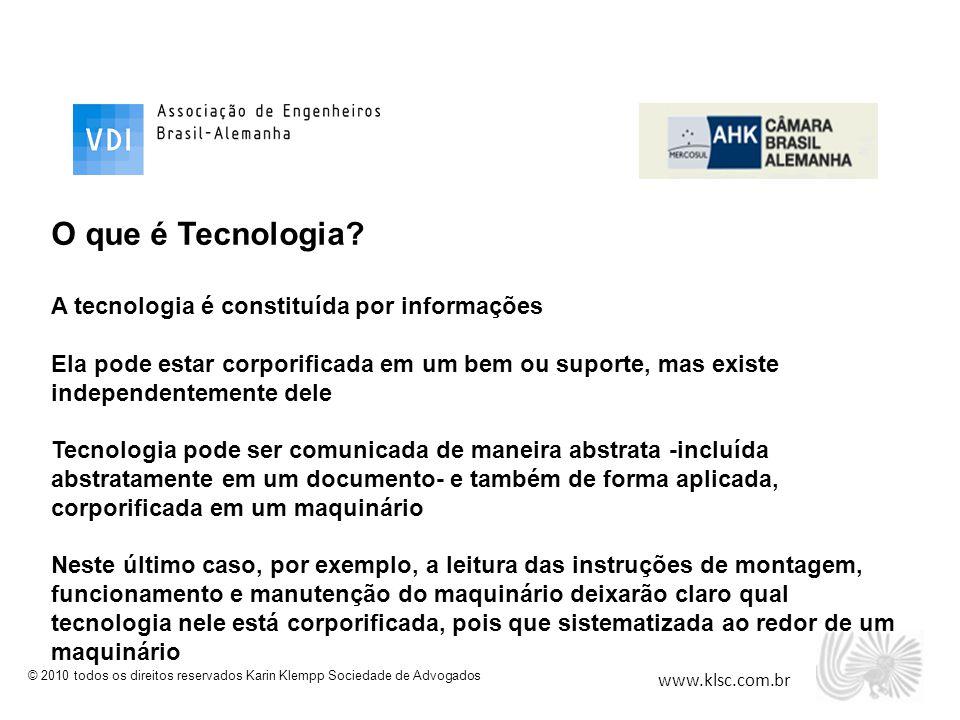 O que é Tecnologia A tecnologia é constituída por informações