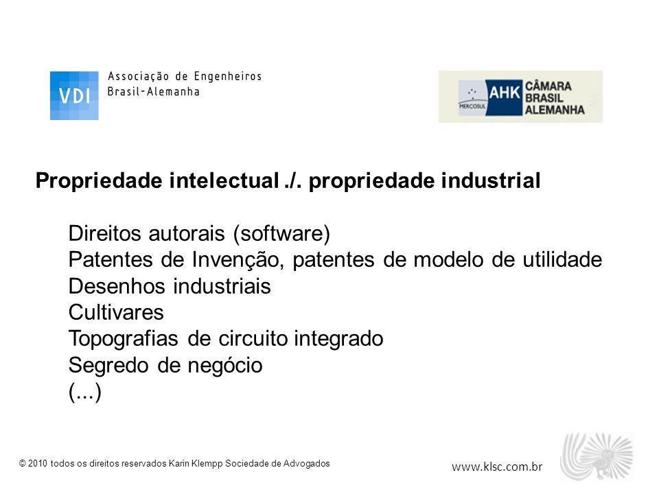 Propriedade intelectual ./. propriedade industrial
