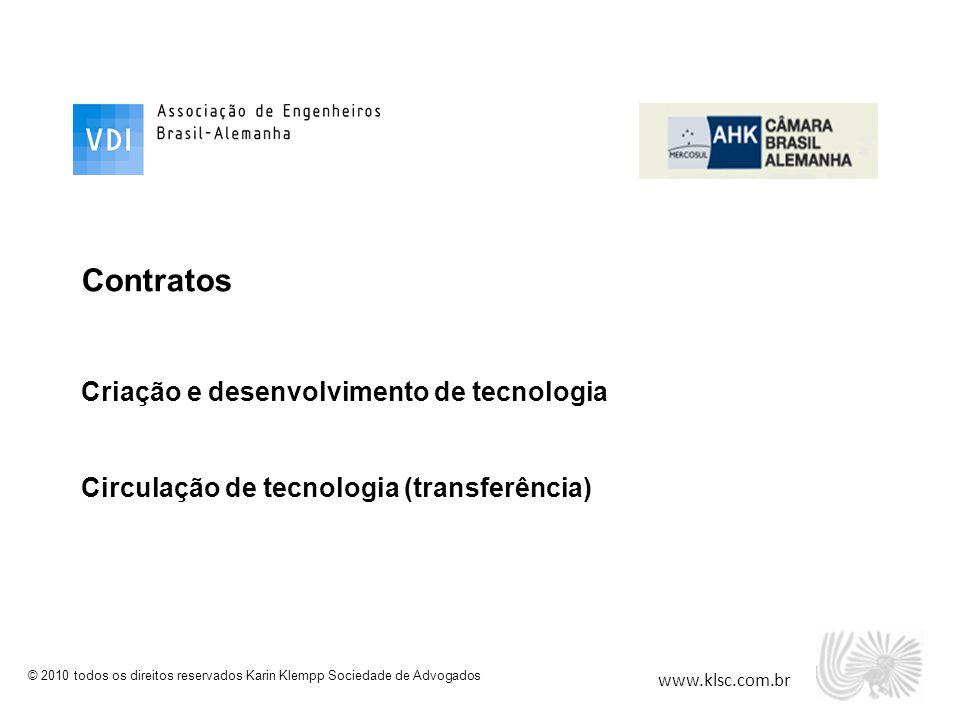 Contratos Criação e desenvolvimento de tecnologia