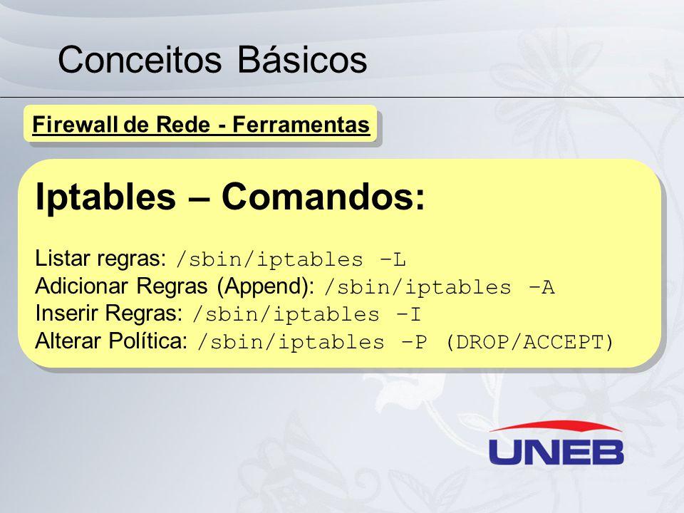 Conceitos Básicos Iptables – Comandos: Firewall de Rede - Ferramentas