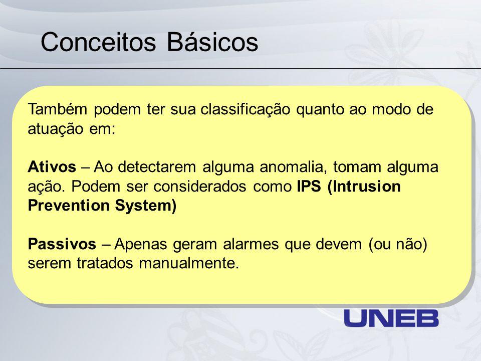 Conceitos Básicos Também podem ter sua classificação quanto ao modo de atuação em: