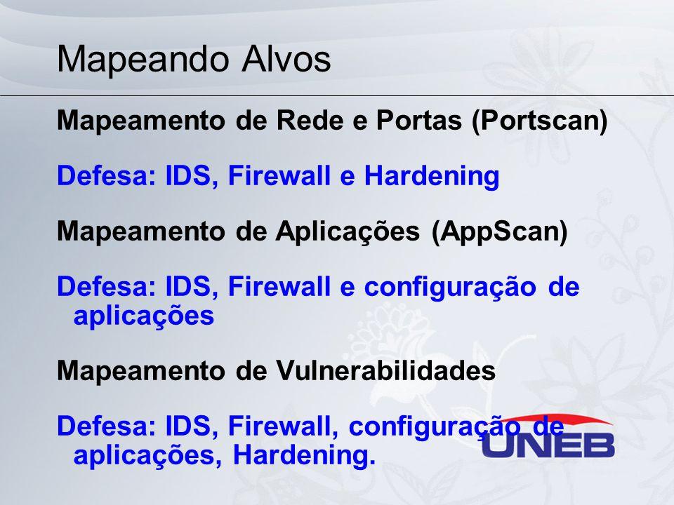 Mapeando Alvos Mapeamento de Rede e Portas (Portscan)