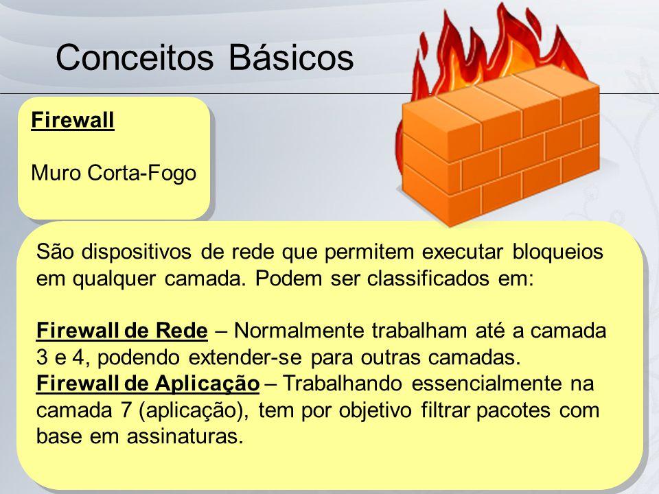 Conceitos Básicos Firewall Muro Corta-Fogo