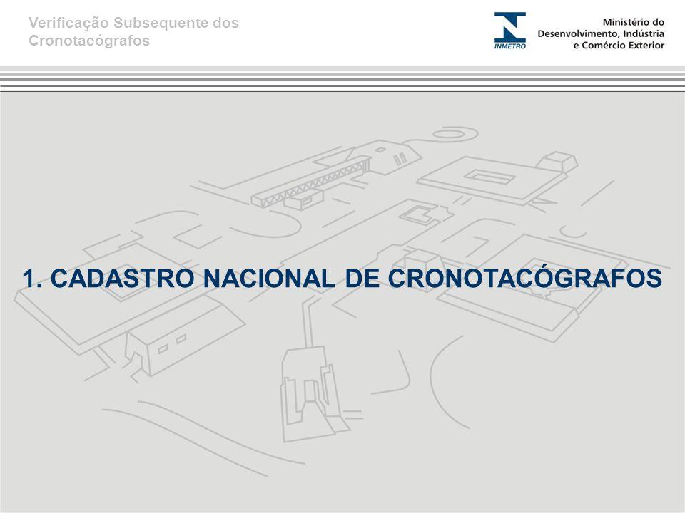 1. CADASTRO NACIONAL DE CRONOTACÓGRAFOS