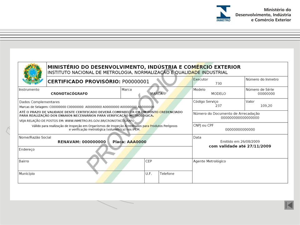 Certificado Provisório