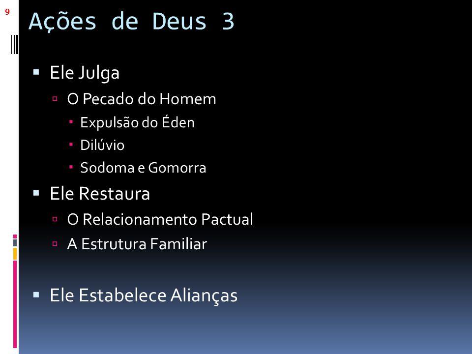 Ações de Deus 3 Ele Julga Ele Restaura Ele Estabelece Alianças