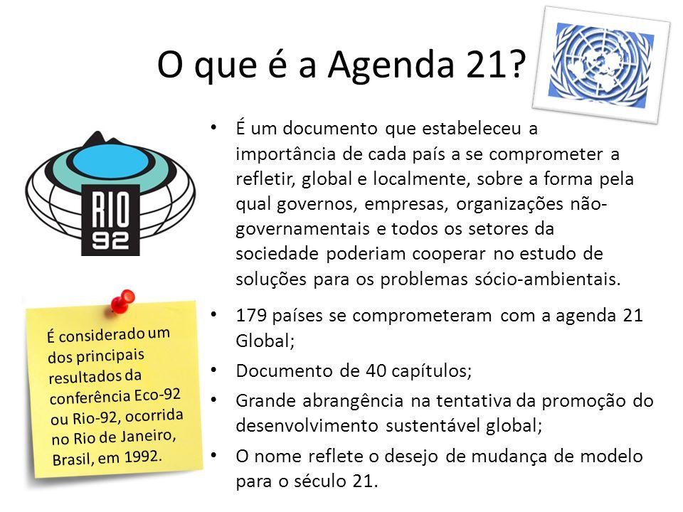 O que é a Agenda 21