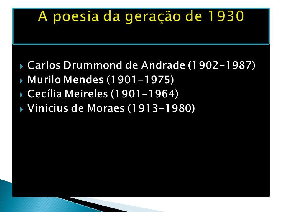 A poesia da geração de 1930 Carlos Drummond de Andrade (1902-1987)