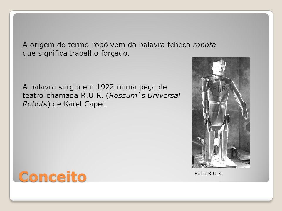 A origem do termo robô vem da palavra tcheca robota que significa trabalho forçado.