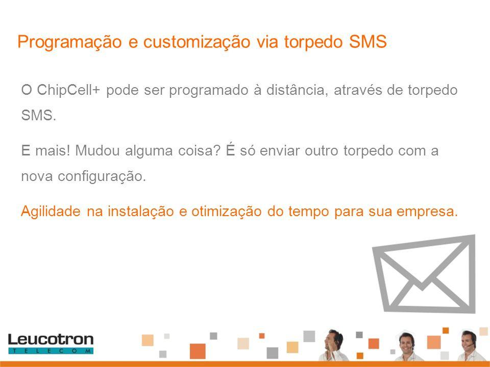 Programação e customização via torpedo SMS