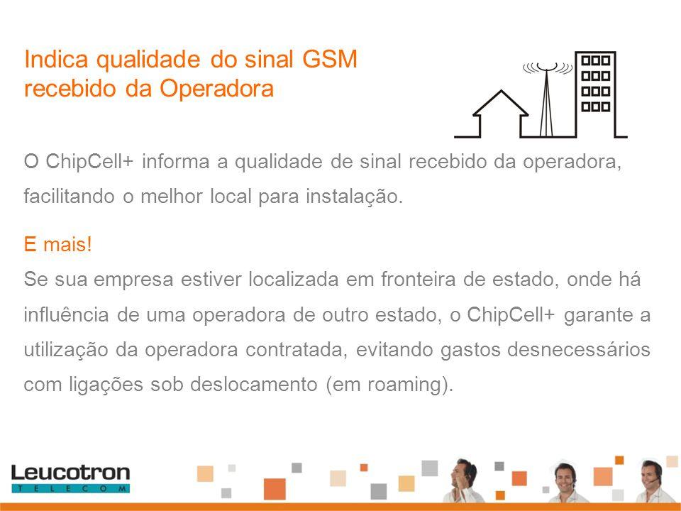 Indica qualidade do sinal GSM recebido da Operadora