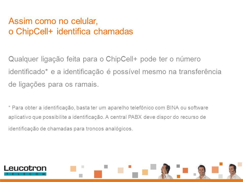 Assim como no celular, o ChipCell+ identifica chamadas