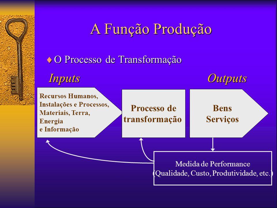 (Qualidade, Custo, Produtividade, etc.)