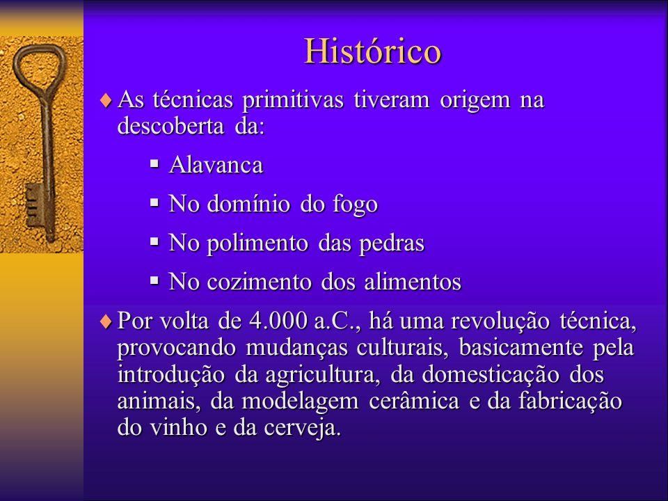 Histórico As técnicas primitivas tiveram origem na descoberta da: