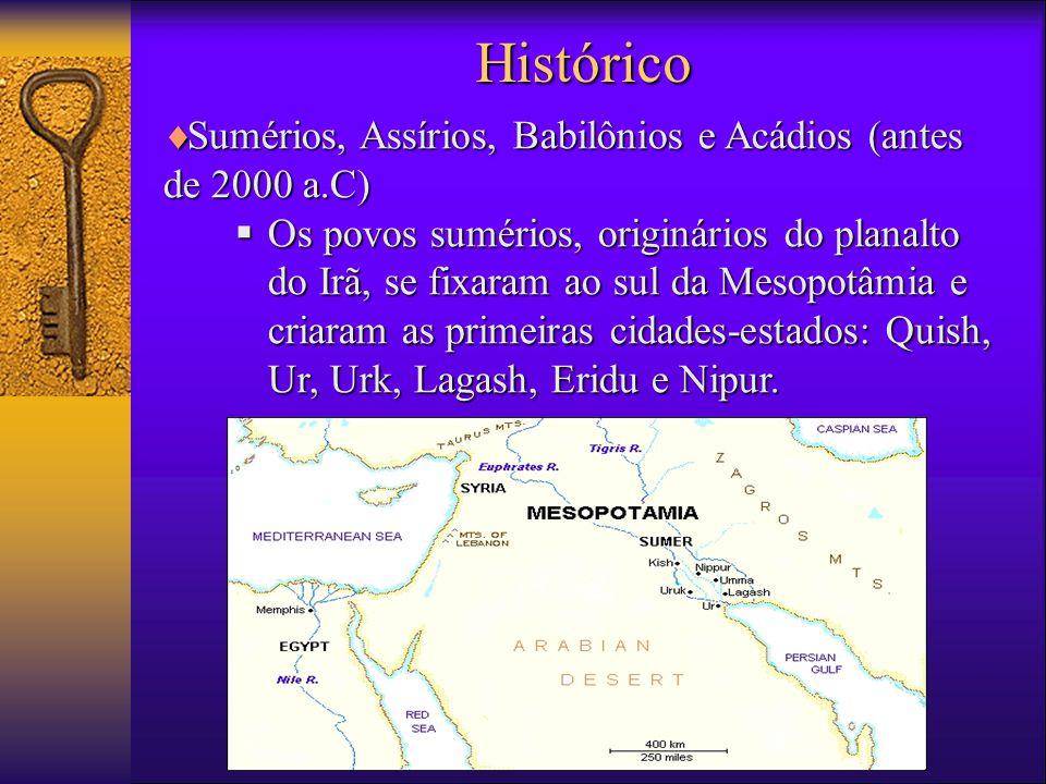 Histórico Sumérios, Assírios, Babilônios e Acádios (antes de 2000 a.C)