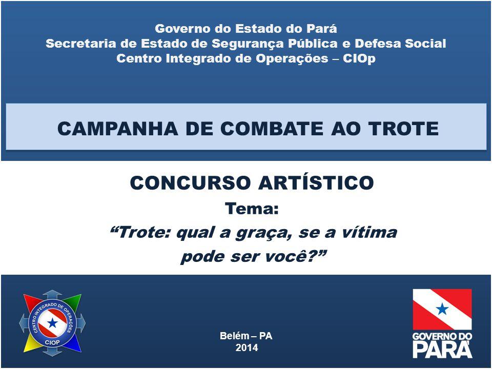 CAMPANHA DE COMBATE AO TROTE CONCURSO ARTÍSTICO