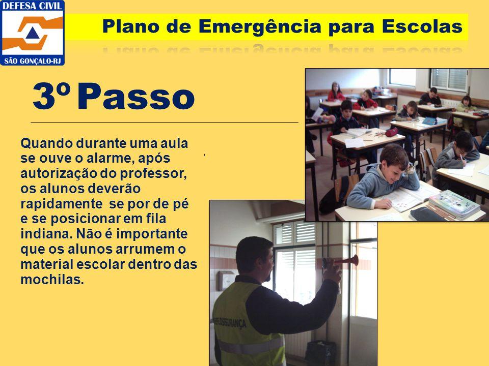 3º Passo Plano de Emergência para Escolas