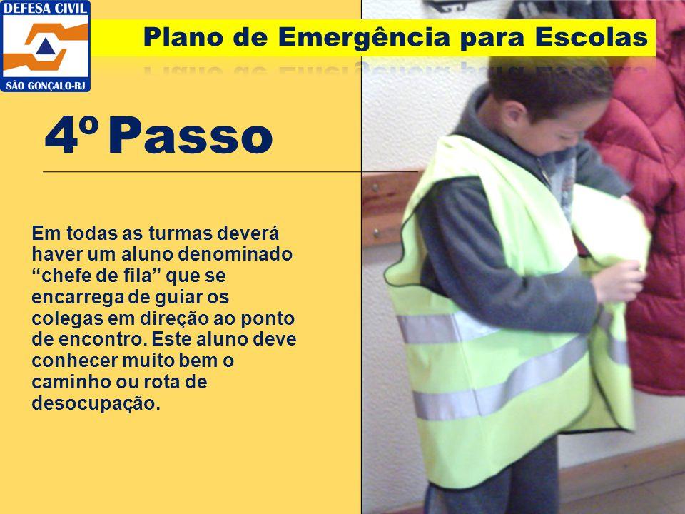 4º Passo Plano de Emergência para Escolas