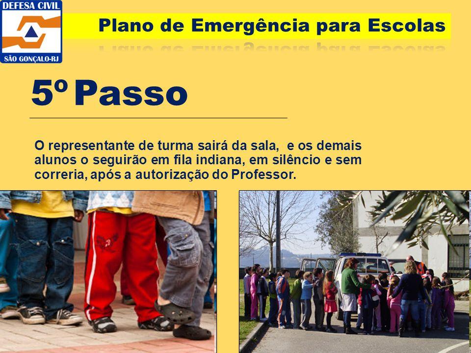 5º Passo Plano de Emergência para Escolas