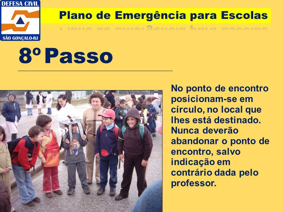 8º Passo Plano de Emergência para Escolas