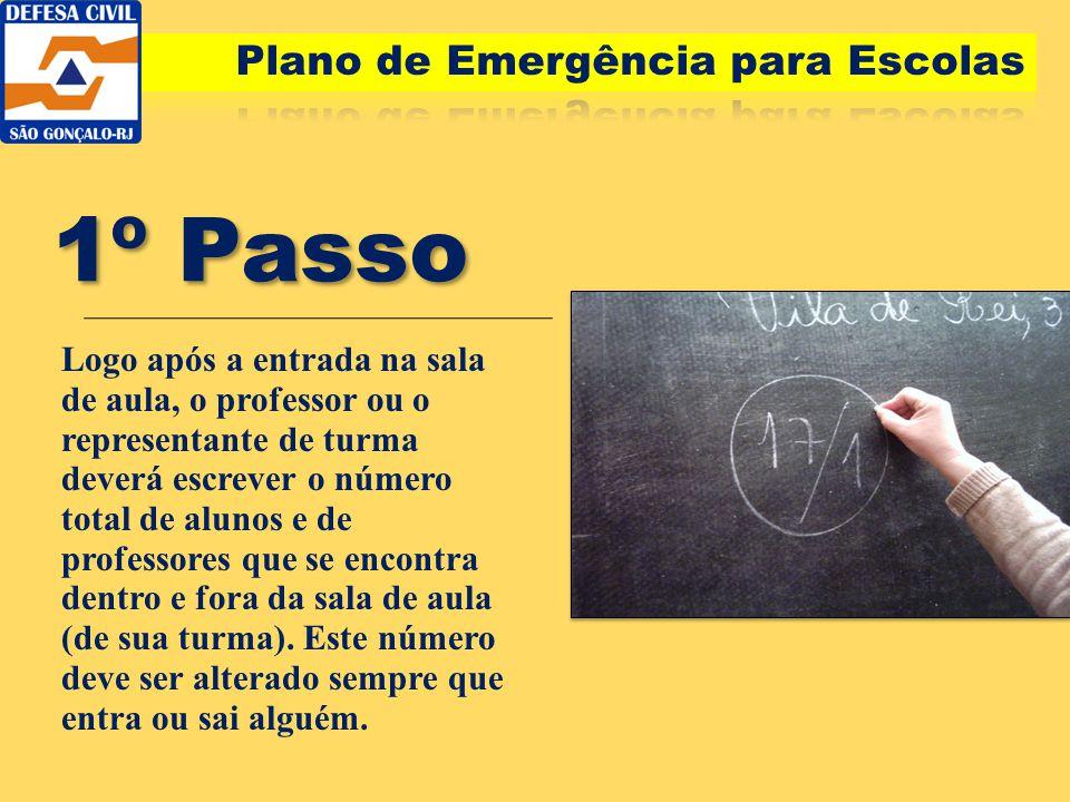 1º Passo Plano de Emergência para Escolas