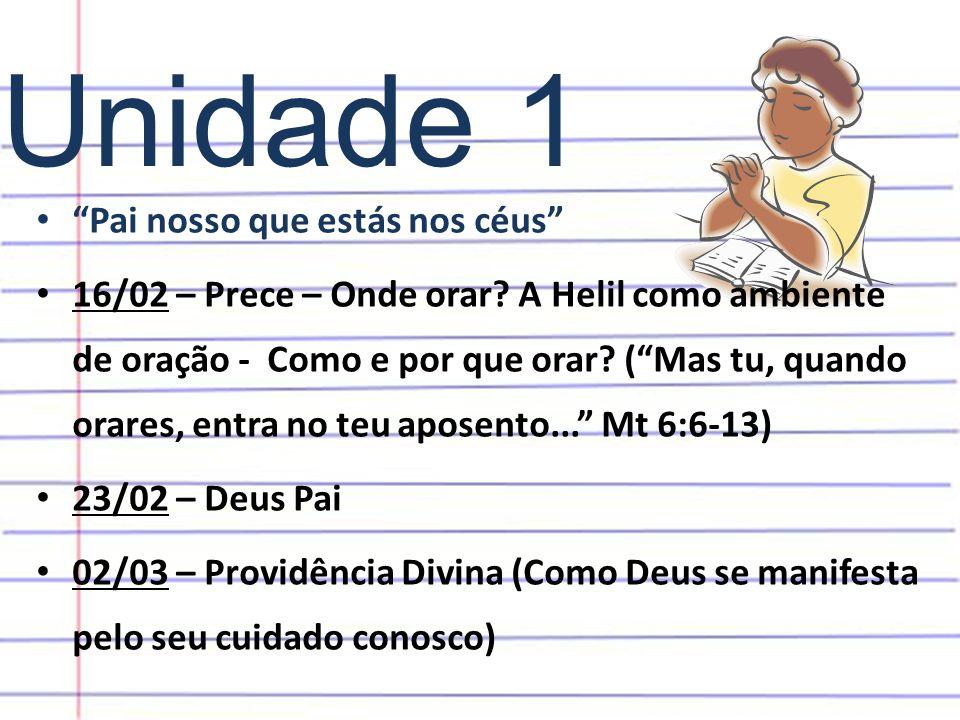 Unidade 1 Pai nosso que estás nos céus