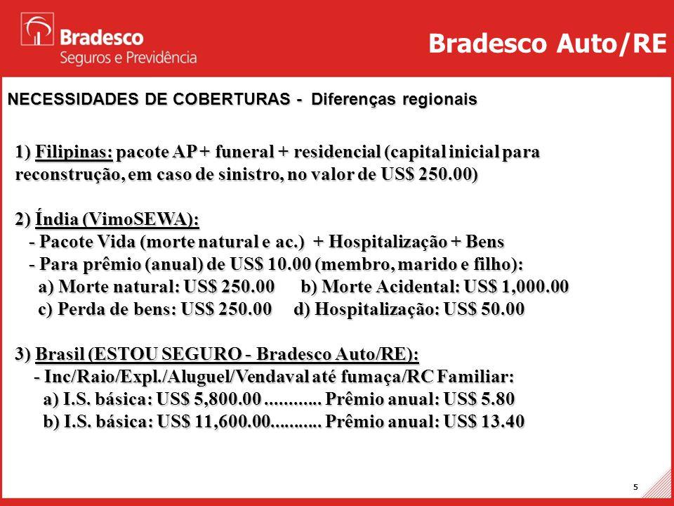 Bradesco Auto/RE NECESSIDADES DE COBERTURAS - Diferenças regionais.