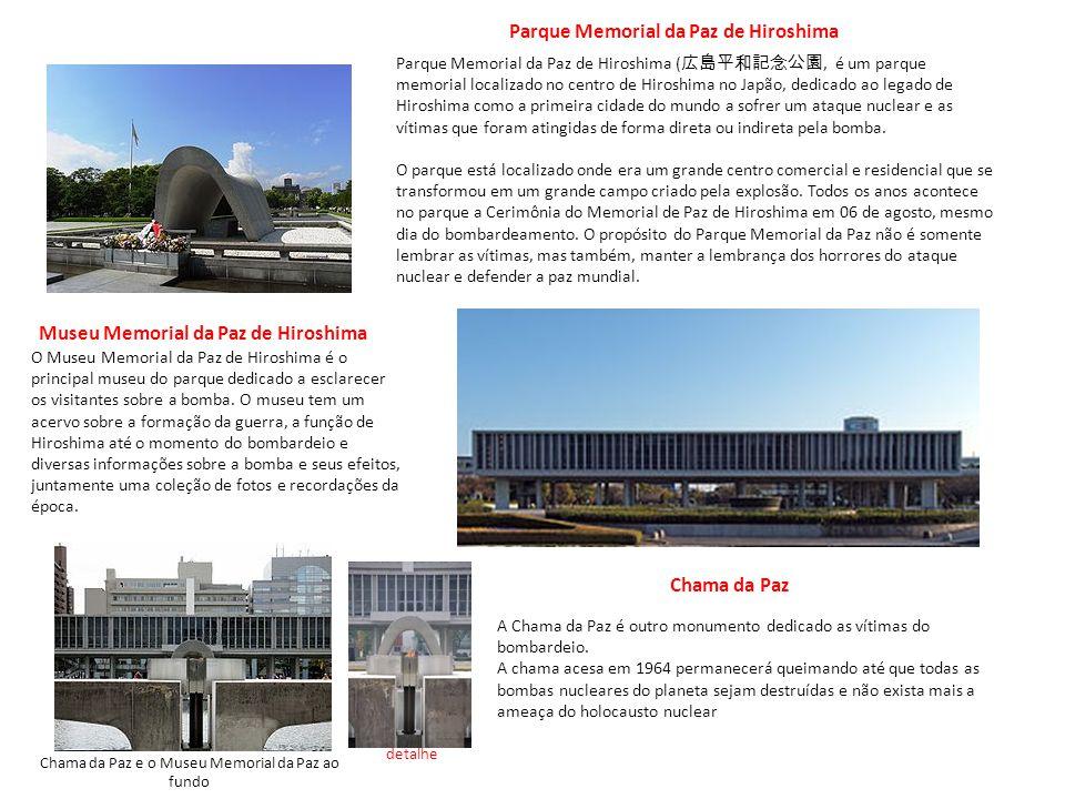 Chama da Paz e o Museu Memorial da Paz ao fundo