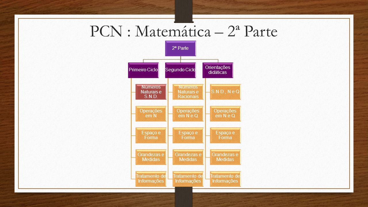 PCN : Matemática – 2ª Parte