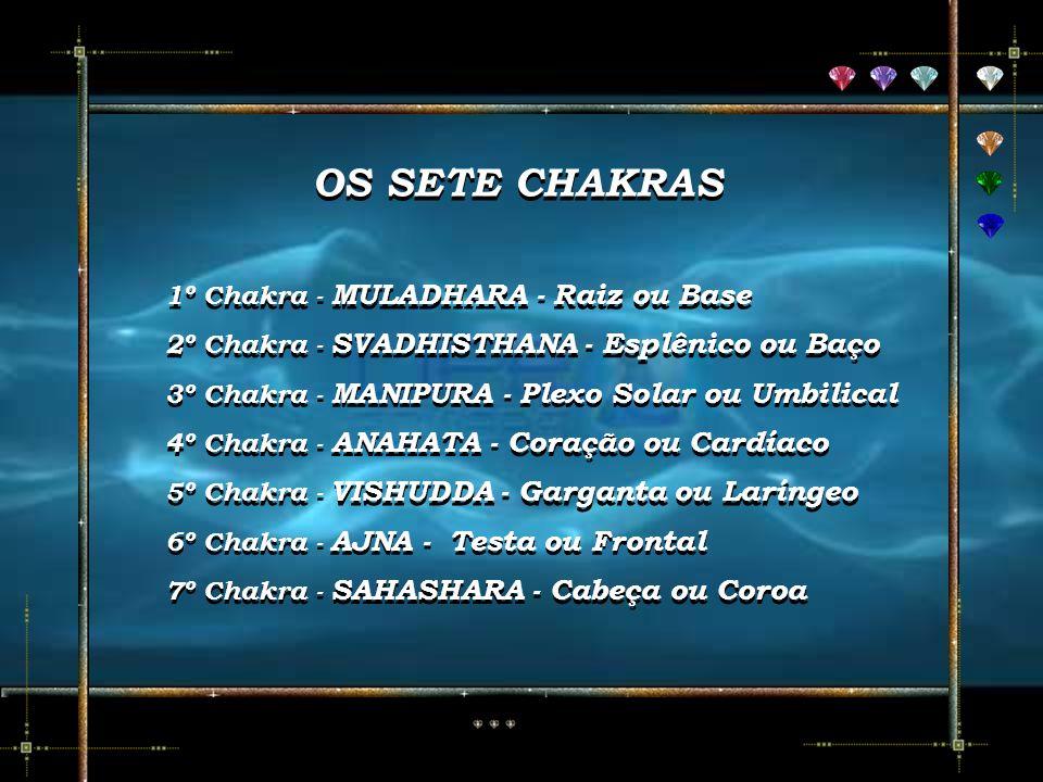 OS SETE CHAKRAS 1º Chakra - MULADHARA - Raiz ou Base